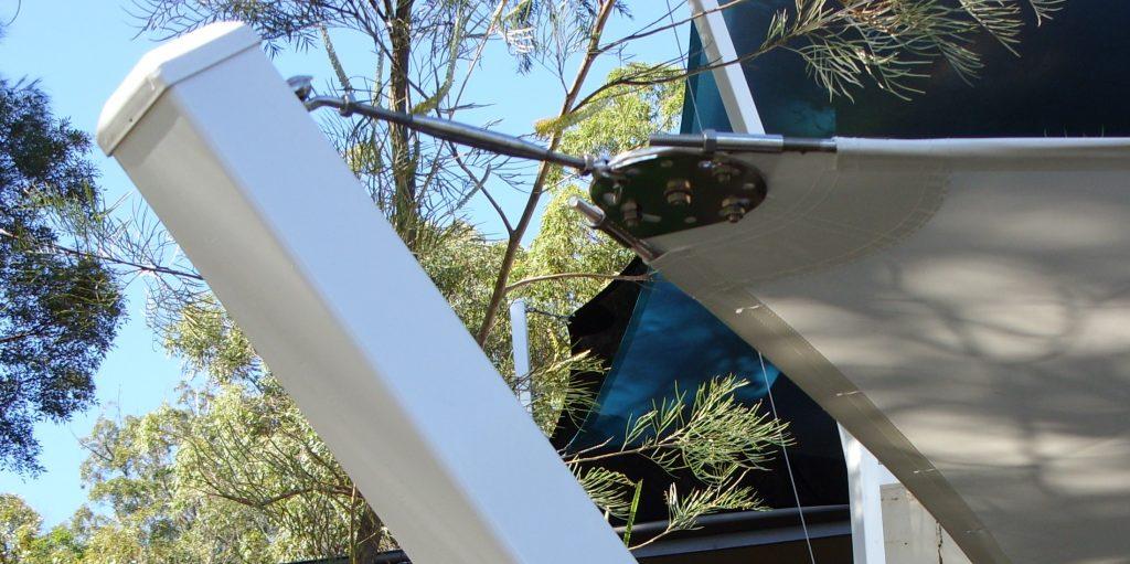 Pvc Sail Shade Bespoke Metal Clamping Plate