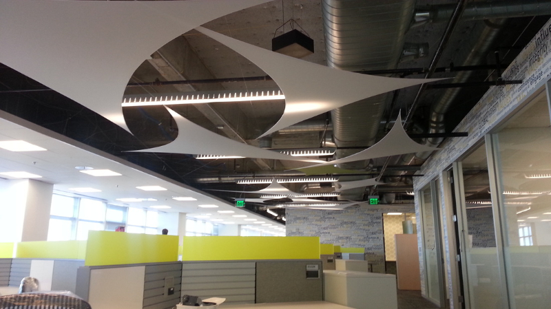 Sterched Shades Sales Commerical Ceiling
